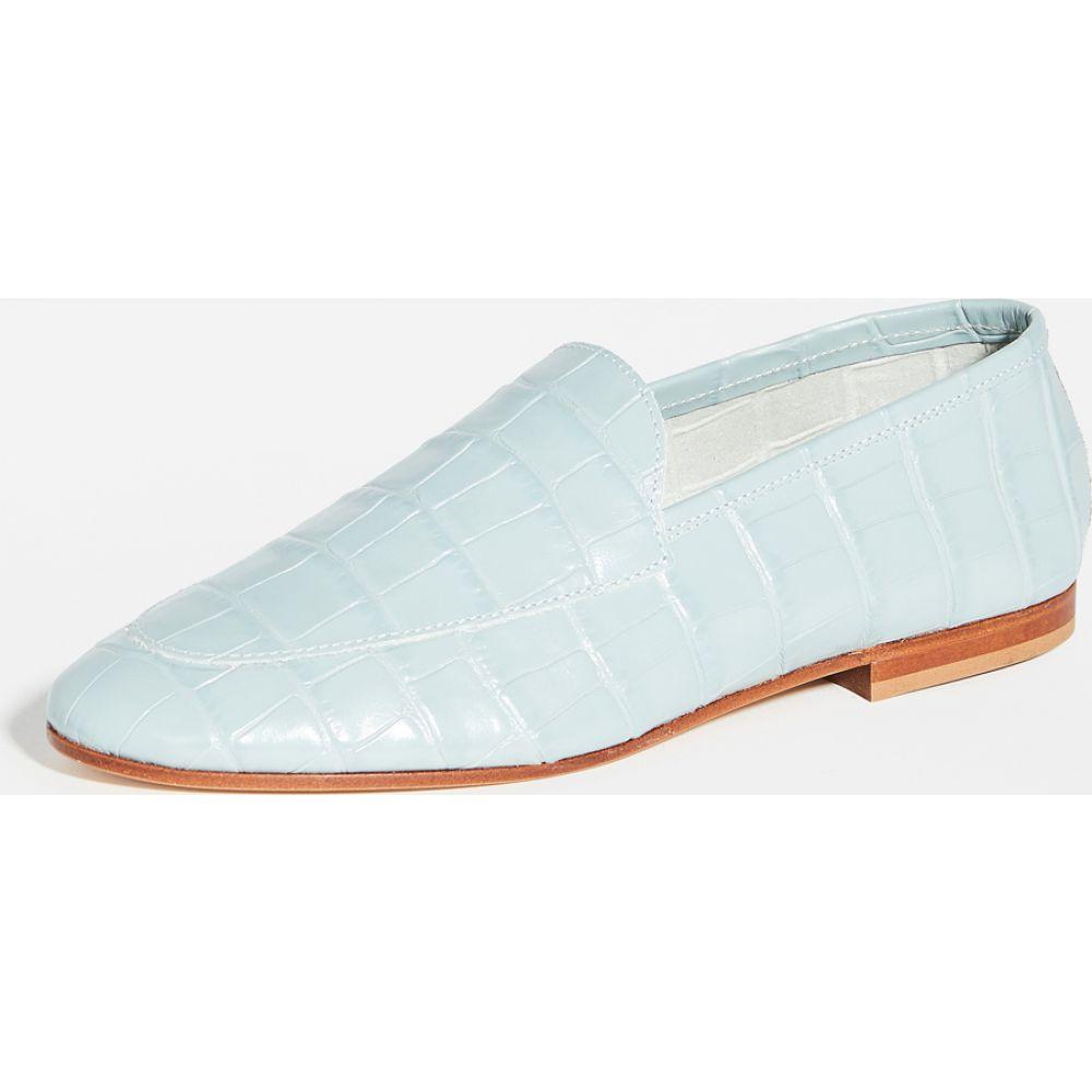 マンサーガブリエル Mansur Gavriel レディース ローファー・オックスフォード シューズ・靴【Sock Loafers】Light Blue