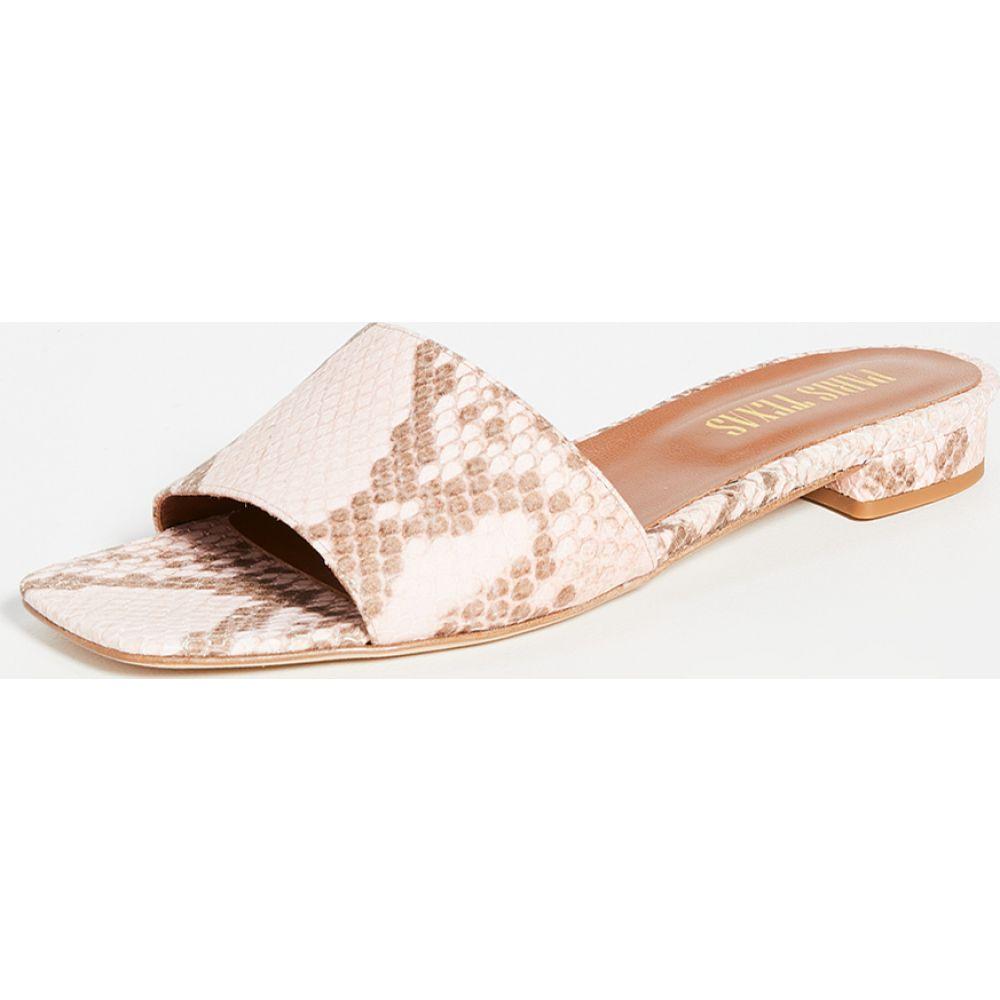 パリ テキサス Paris Texas レディース サンダル・ミュール スクエアトゥ シューズ・靴【Faded Python Print Square Toe Flats】Faded Antique Pink
