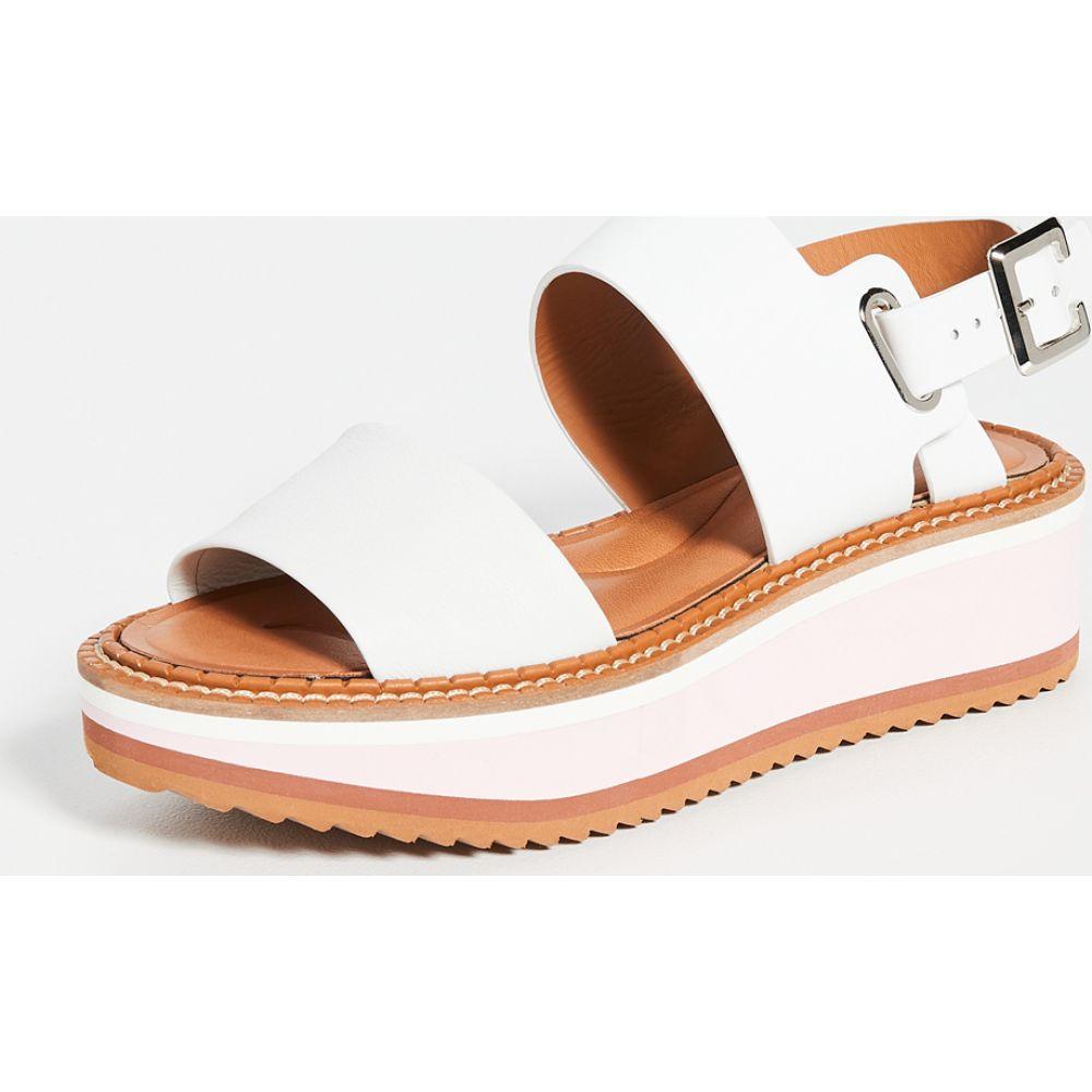 ロベール クレジュリー Clergerie レディース サンダル・ミュール シューズ・靴【Fleur Sandals】White