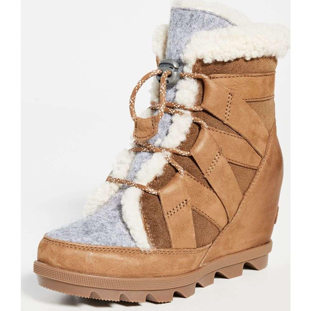 ソレル Sorel レディース ブーツ ウェッジソール シューズ・靴【Joan of Arctic Wedge Boots】Camel Brown