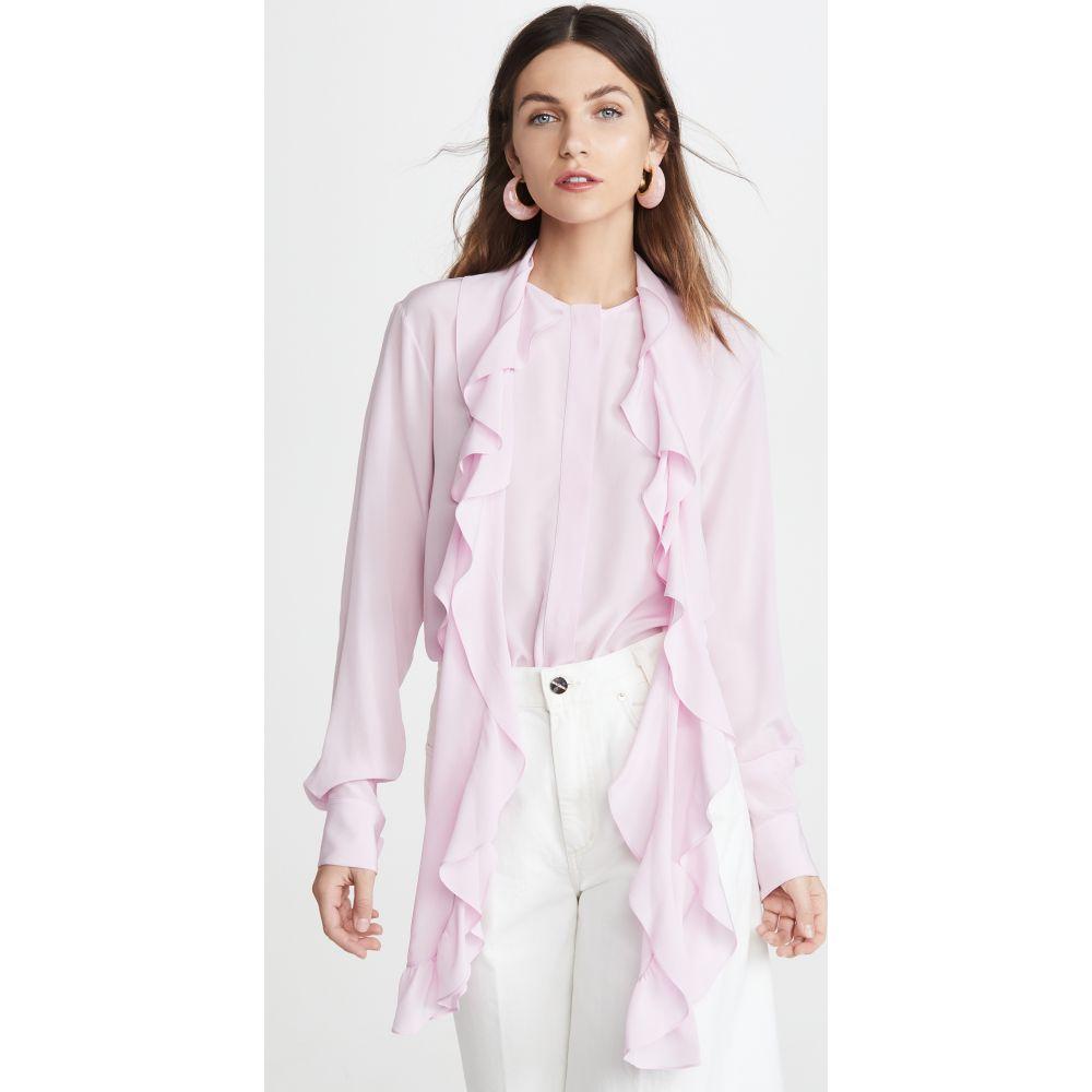 ヴィクトリア ベッカム Victoria Beckham レディース ブラウス・シャツ トップス【Frill Scarf Blouse】Candyfloss Pink