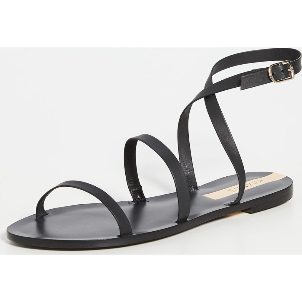 カーナス KAANAS レディース サンダル・ミュール シューズ・靴【Vitoria Gladiator Sandals】Black