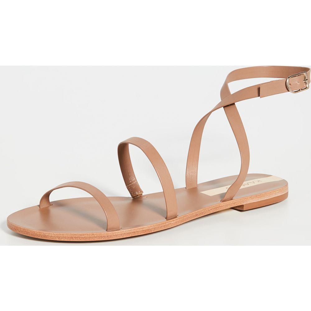 カーナス KAANAS レディース サンダル・ミュール シューズ・靴【Vitoria Gladiator Sandals】Tan