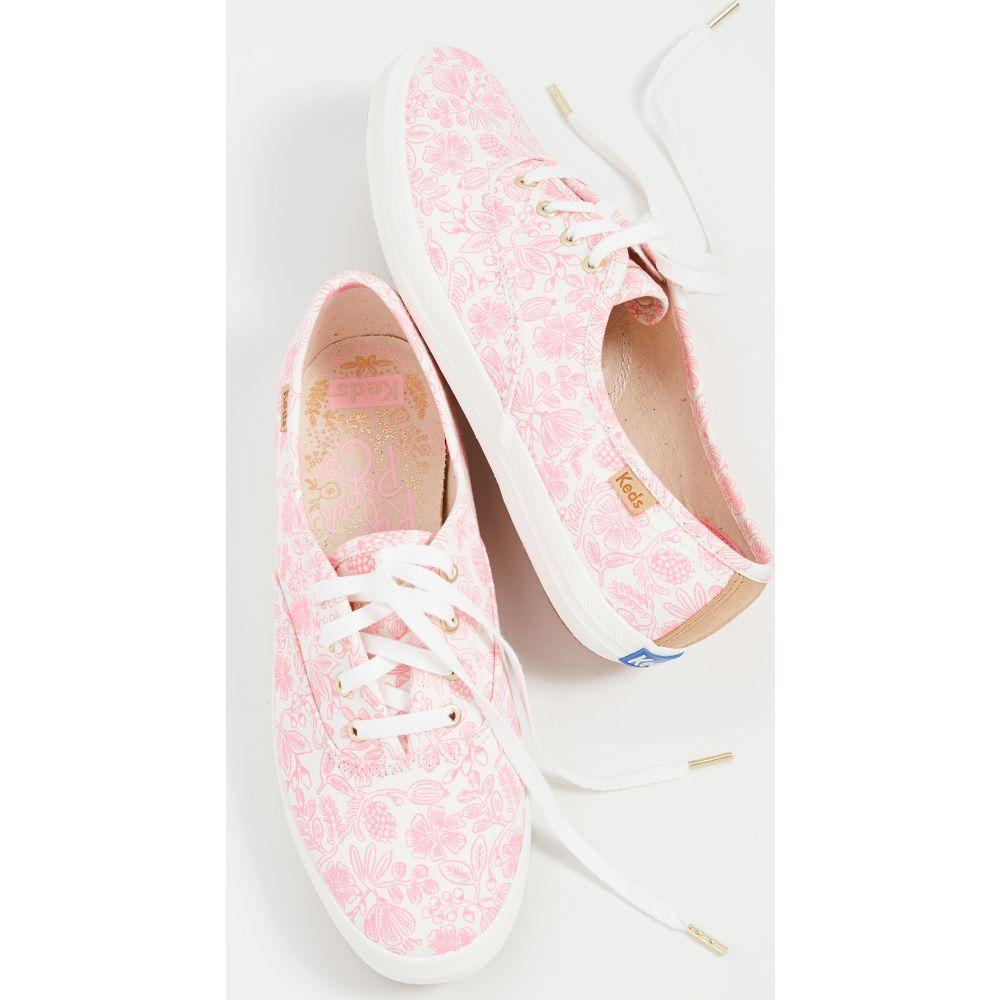 レディース Rifle Floral Keds Moxie Paper Champion Co シューズ・靴【x スニーカー Pink ケッズ Sneakers】Neon Floral