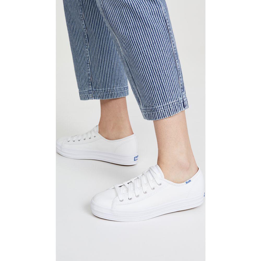 ケッズ Keds レディース スニーカー シューズ・靴【Triple Kick Leather Sneakers】White