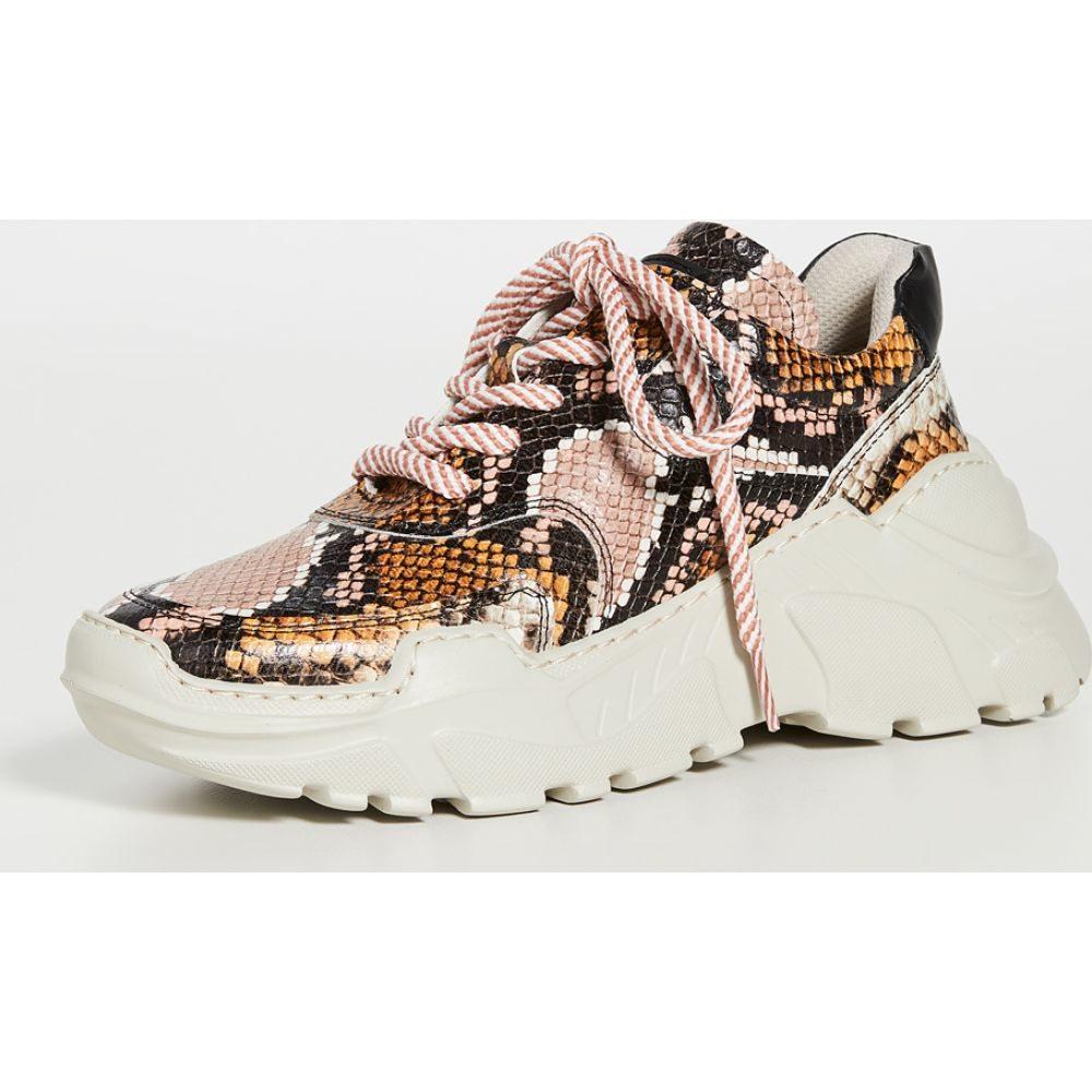 ラスト LAST レディース スニーカー シューズ・靴【Sprint Leather Snake Sneakers】Pink