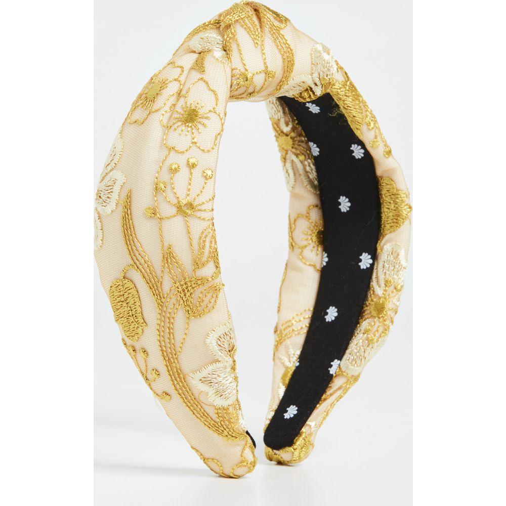 レレ サドイ Lele Sadoughi レディース ヘアアクセサリー ヘッドバンド【Floral Lace Knotted Headband】Yellow Jessamine