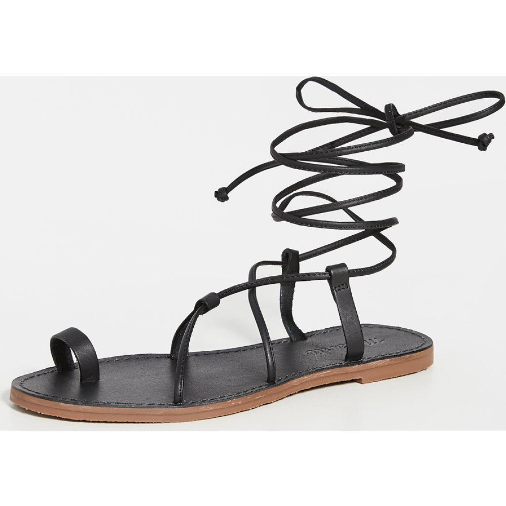 メイドウェル Madewell レディース サンダル・ミュール レースアップ シューズ・靴【Ronda Boardwalk Lace Up Sandals】True Black