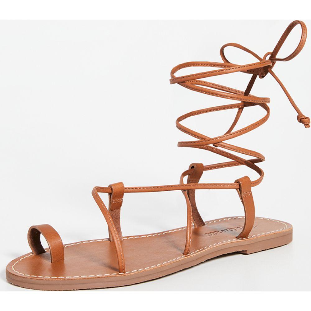 メイドウェル Madewell レディース サンダル・ミュール レースアップ シューズ・靴【Ronda Boardwalk Lace Up Sandals】English Saddle