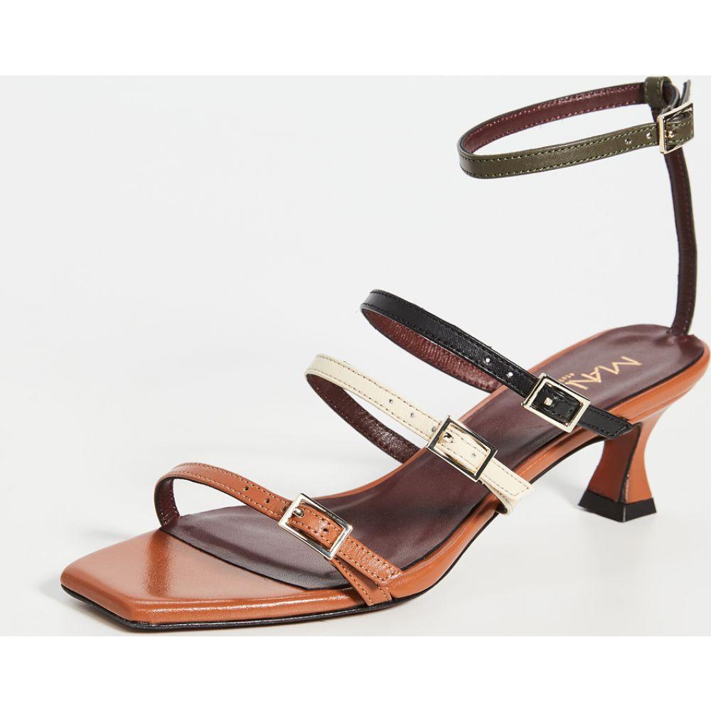 マニュ アトリエ MANU Atelier レディース サンダル・ミュール シューズ・靴【Naomi Sandals】Orange Camel/Vanilla/Black/Kha