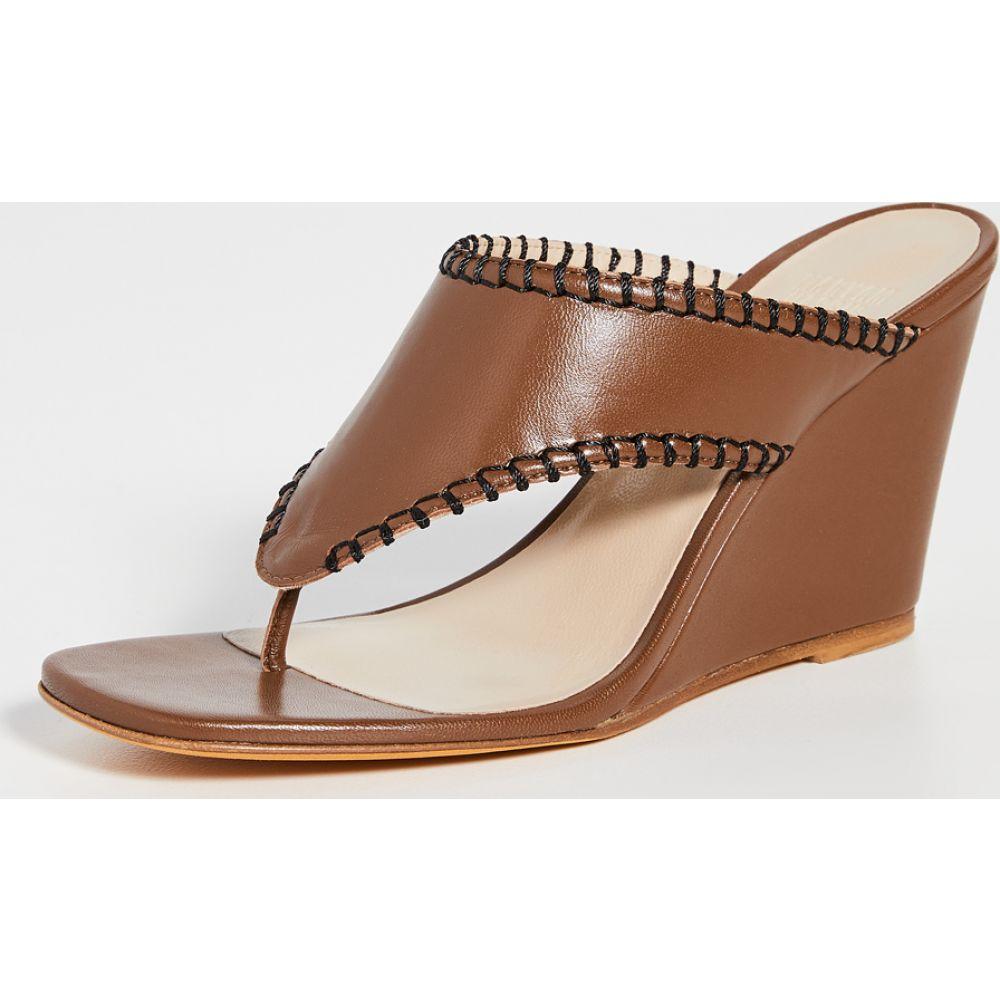 マリアム ナッシアー ザデー Maryam Nassir Zadeh レディース サンダル・ミュール シューズ・靴【Talia Thong Sandals】Bark