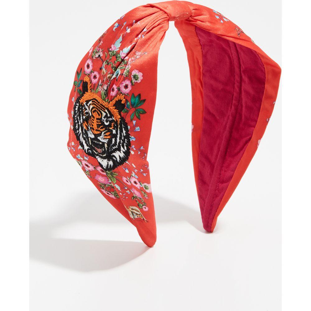 ナムジョシュ NAMJOSH レディース ヘアアクセサリー ヘッドバンド【Tiger Embroidered Headband】Red