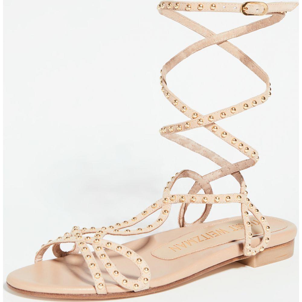 スチュアート ワイツマン Stuart Weitzman レディース サンダル・ミュール フラット シューズ・靴【Leya Bead Flat Sandals】Adobe/Gold
