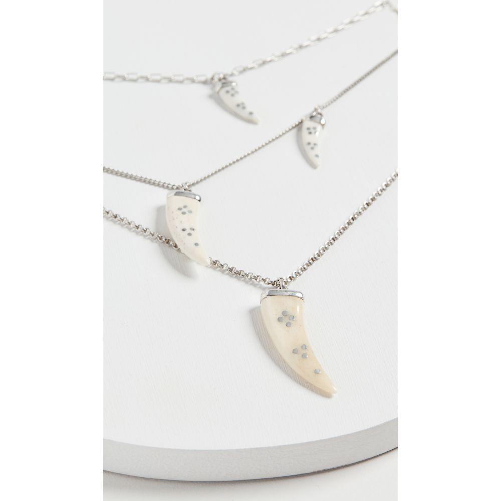 イザベル マラン Isabel Marant レディース ネックレス ジュエリー・アクセサリー【Aimable Necklace】Ecru/Silver