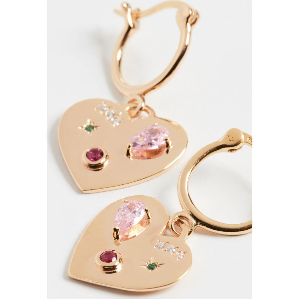 スコーシャ Scosha レディース イヤリング・ピアス ハート ジュエリー・アクセサリー【Night Market Heart Hoop Earrings】Gold/Sapphire
