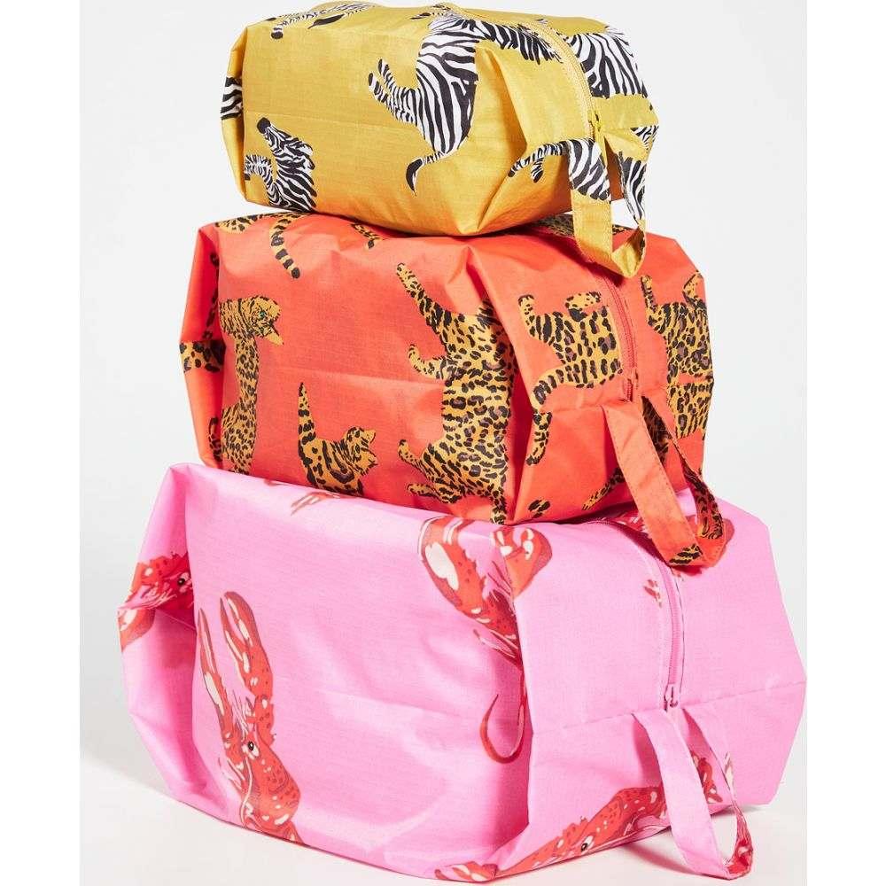 バグゥ BAGGU レディース ポーチ 【3D Zip Bag Set】Fancy Animal