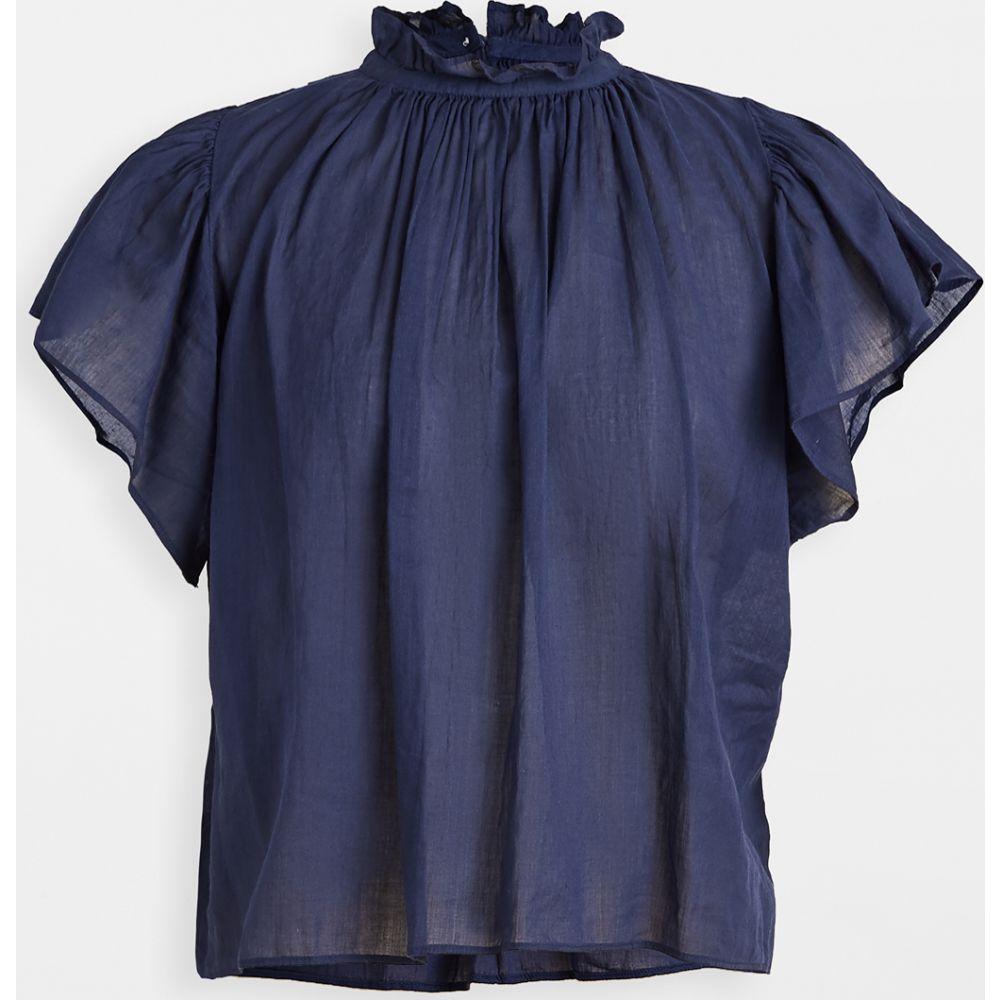 バーズ オブ パラディス Birds of Paradis レディース ブラウス・シャツ トップス【Carla High Neck Shirt】Navy