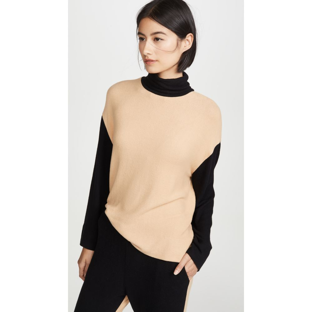 Leset レディース ニット・セーター トップス【Lori Oversized Turtleneck Sweater】Camel/Black