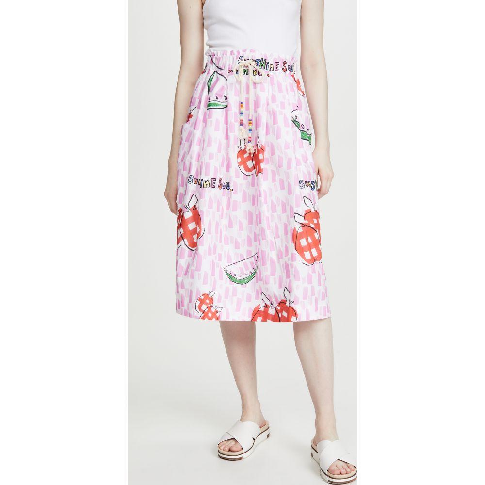 ミラミカティ Mira Mikati レディース スカート 【Apples & Watermelon Print Tie Waist Skirt】Pink/Red/White