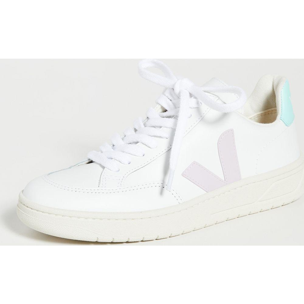 ヴェジャ Veja レディース スニーカー シューズ・靴【V-12 Sneakers】Extra White/Parme/Turquoise