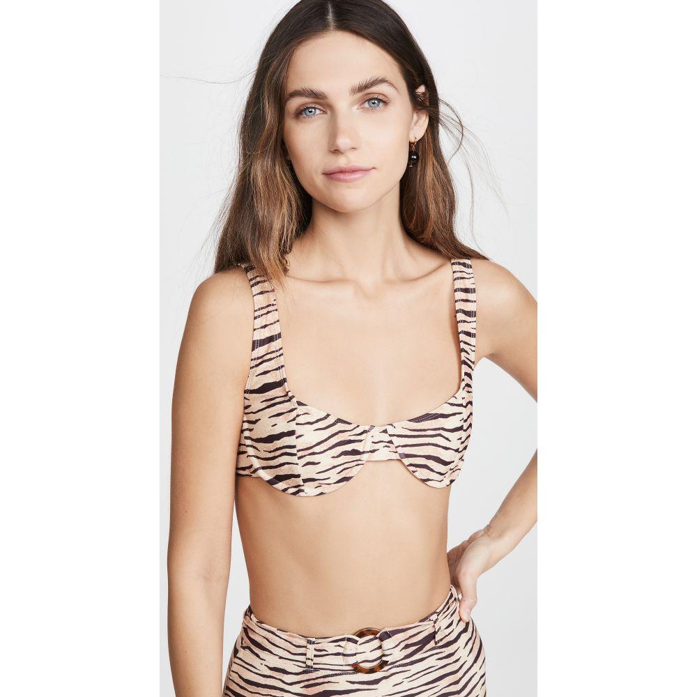 フェイスフルザブランド FAITHFULL THE BRAND レディース トップのみ 水着・ビーチウェア【Bloom Bikini Top】Wlydie Animal Print