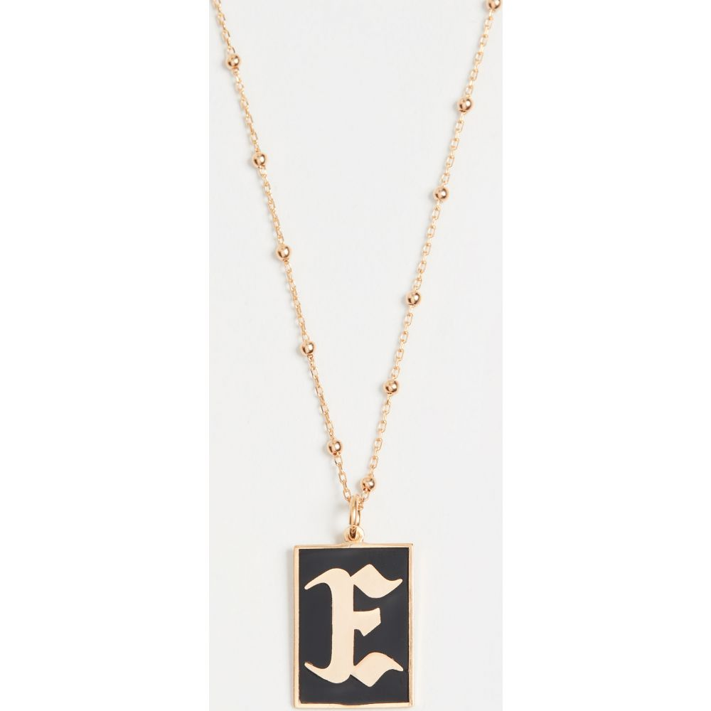 メゾンアイレム Maison Irem レディース ネックレス ジュエリー・アクセサリー【Gothic Initial Necklace】E