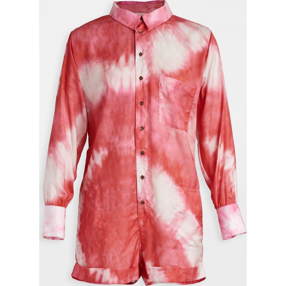 プラッシュ Plush レディース ビーチウェア オールインワン 水着・ビーチウェア【Tie Dye Romper】Red