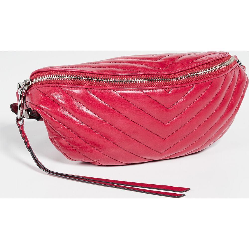 レベッカ ミンコフ Rebecca Minkoff レディース ボディバッグ・ウエストポーチ バッグ【Edie Quilted Belt Bag】Scarlet