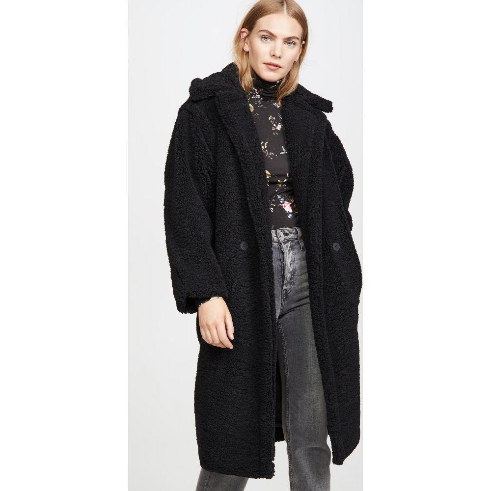 アパリス Apparis レディース コート ファーコート アウター【Daryna Faux Fur Coat】Noir Shearling