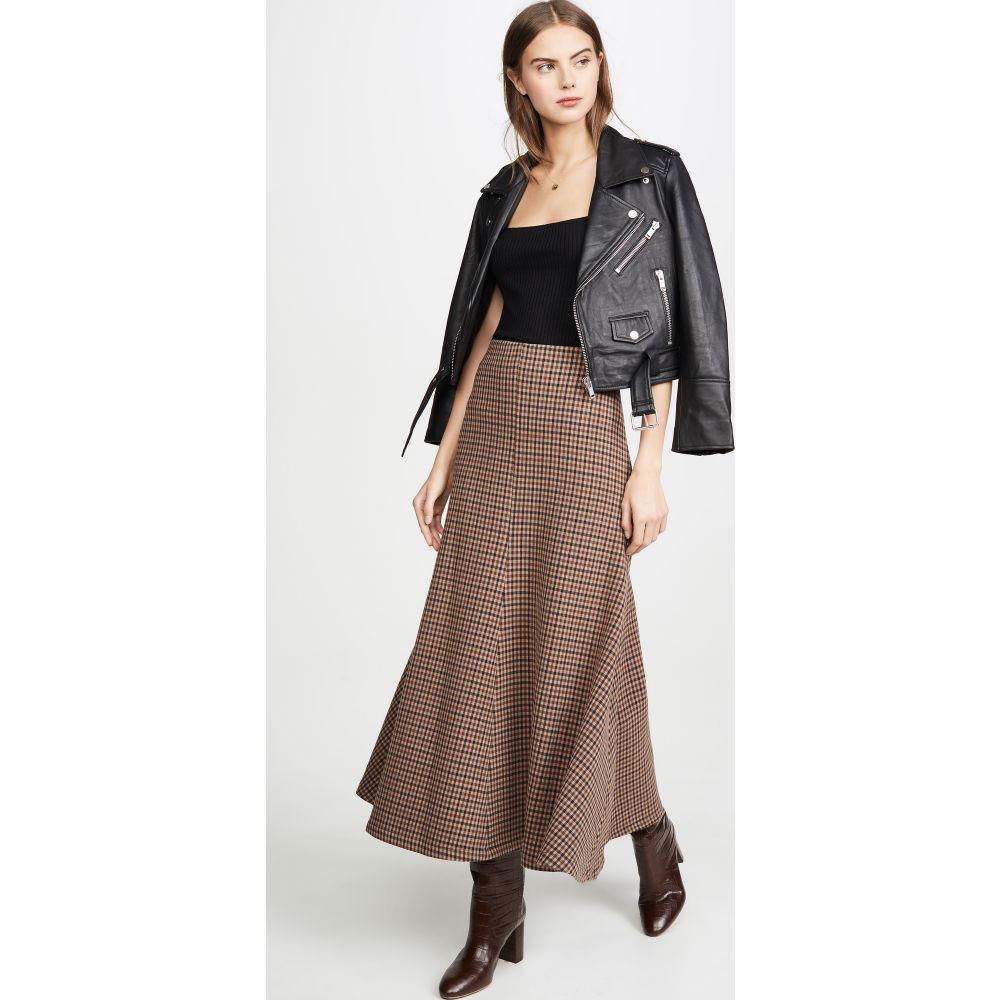 アウェイク モード A.W.A.K.E. MODE レディース スカート 【Bell Gingham Skirt】Beige/Brown