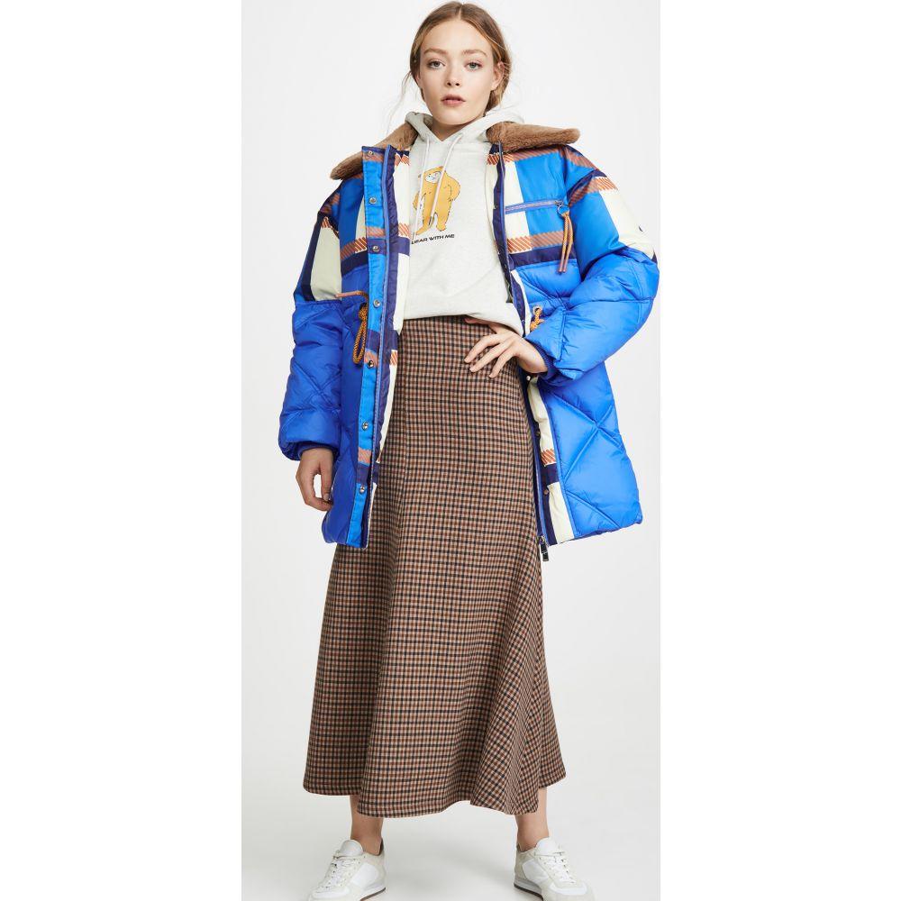 ルーメイ Lu Mei レディース ジャケット アウター【Harlington Jacket】Block Check Print Cobalt