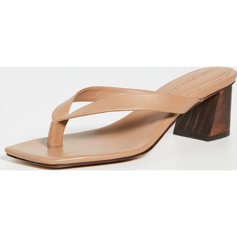 マリ ジウディセリ Mari Giudicelli レディース サンダル・ミュール シューズ・靴【Luiza Sandals】Camel