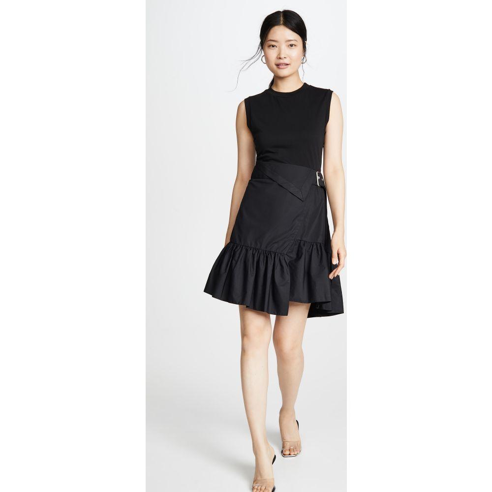 スリーワン フィリップ リム 3.1 Phillip Lim レディース ワンピース Tシャツワンピース ワンピース・ドレス【Belted T-Shirt Dress】Black