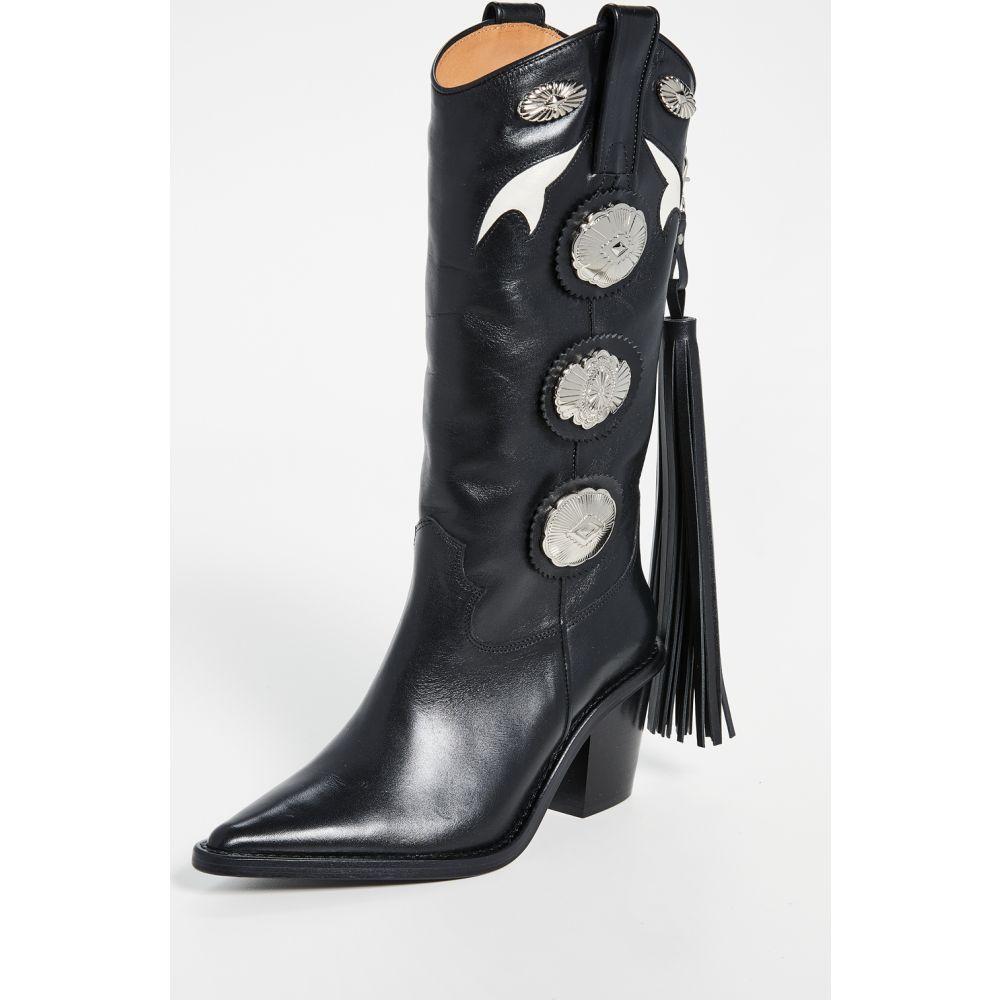 トーガ Toga Pulla レディース ブーツ シューズ・靴【Tall Fringe Boots】Black Black