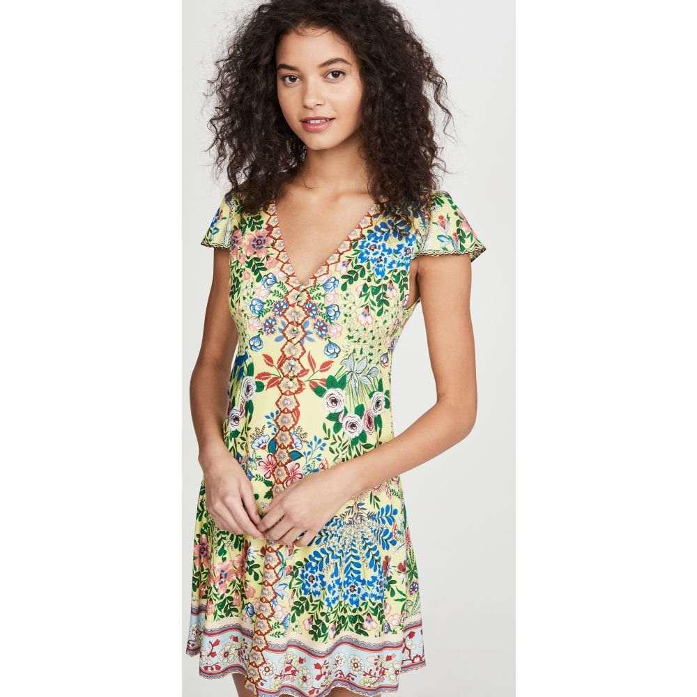 アリス アンド オリビア alice + olivia レディース ワンピース ワンピース・ドレス【Hadley Button Fit Flare Dress】Wildflower Daffodil