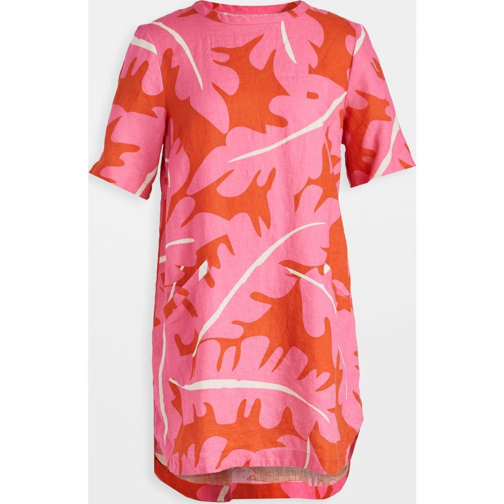 バーズ オブ パラディス Birds of Paradis レディース ワンピース シャツワンピース ワンピース・ドレス【Raffi Linen Shirtdress】Pink Palm Print