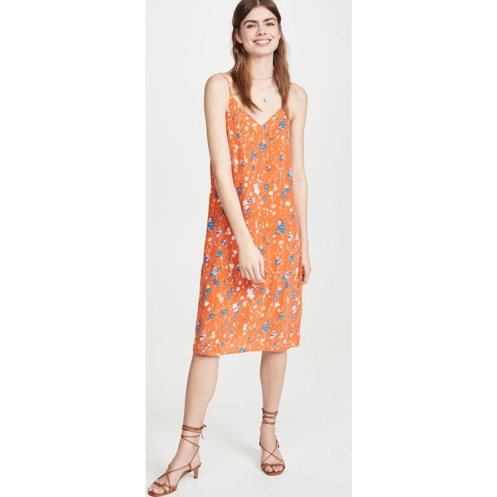 エキプモン Equipment レディース ワンピース スリップドレス ワンピース・ドレス【Jules Slip Dress】Orange Rust Multi