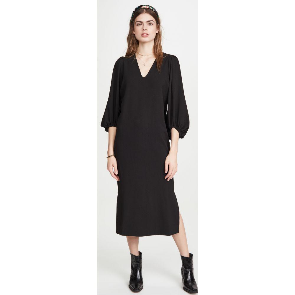 ガニー GANNI レディース ワンピース ワンピース・ドレス【Heavy Crepe Dress】Black