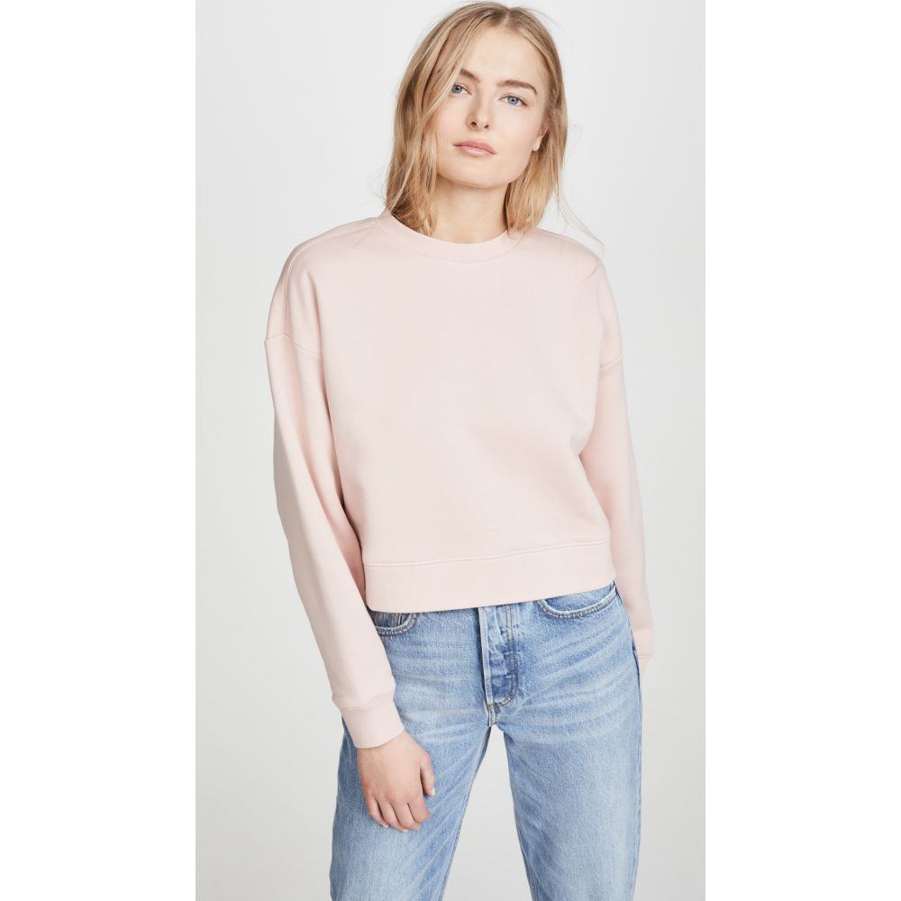 ナイティーパーセント Ninety Percent レディース スウェット・トレーナー トップス【Cropped Sweatshirt】Blush