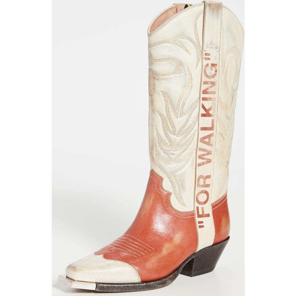 オフホワイト Off-White レディース ブーツ カウボーイブーツ シューズ・靴【Vintage Cowboy Boots】Beige Mattone