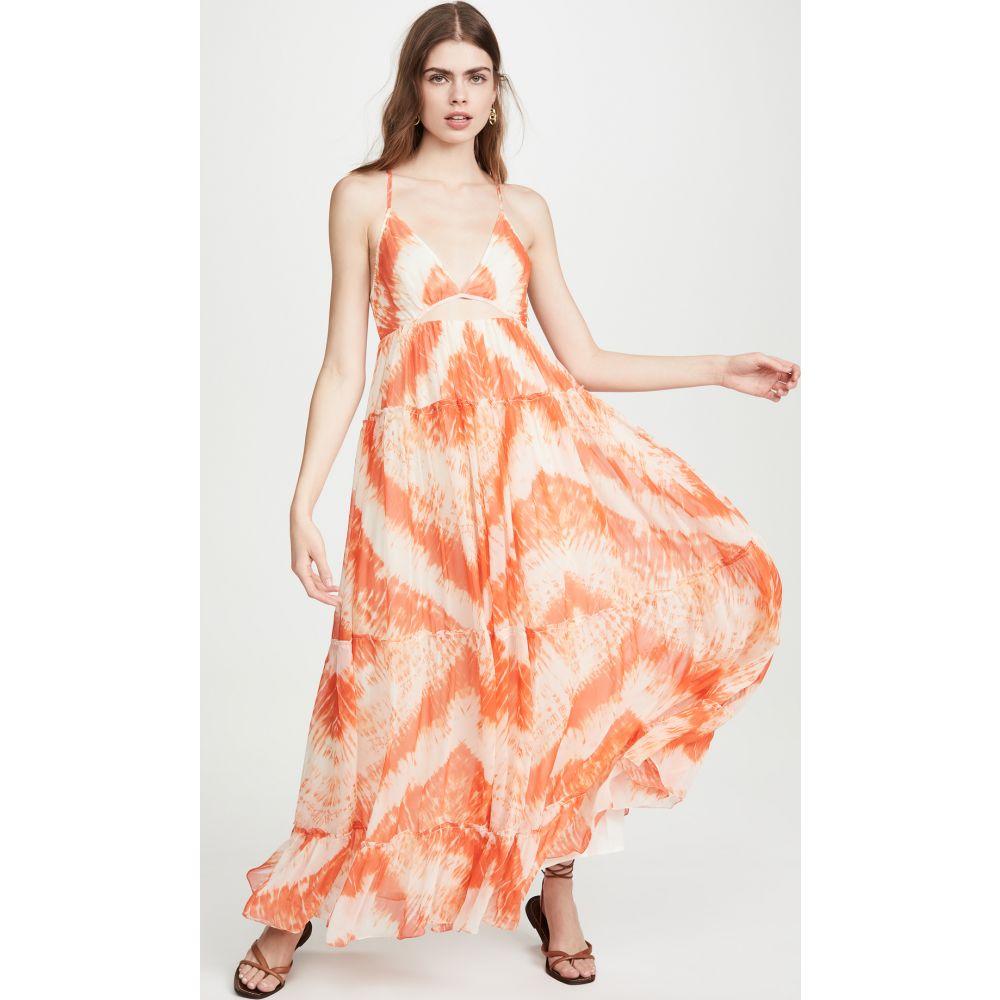 ロココ ROCOCO SAND レディース ワンピース ワンピース・ドレス【Tie Dye Dress】Orange
