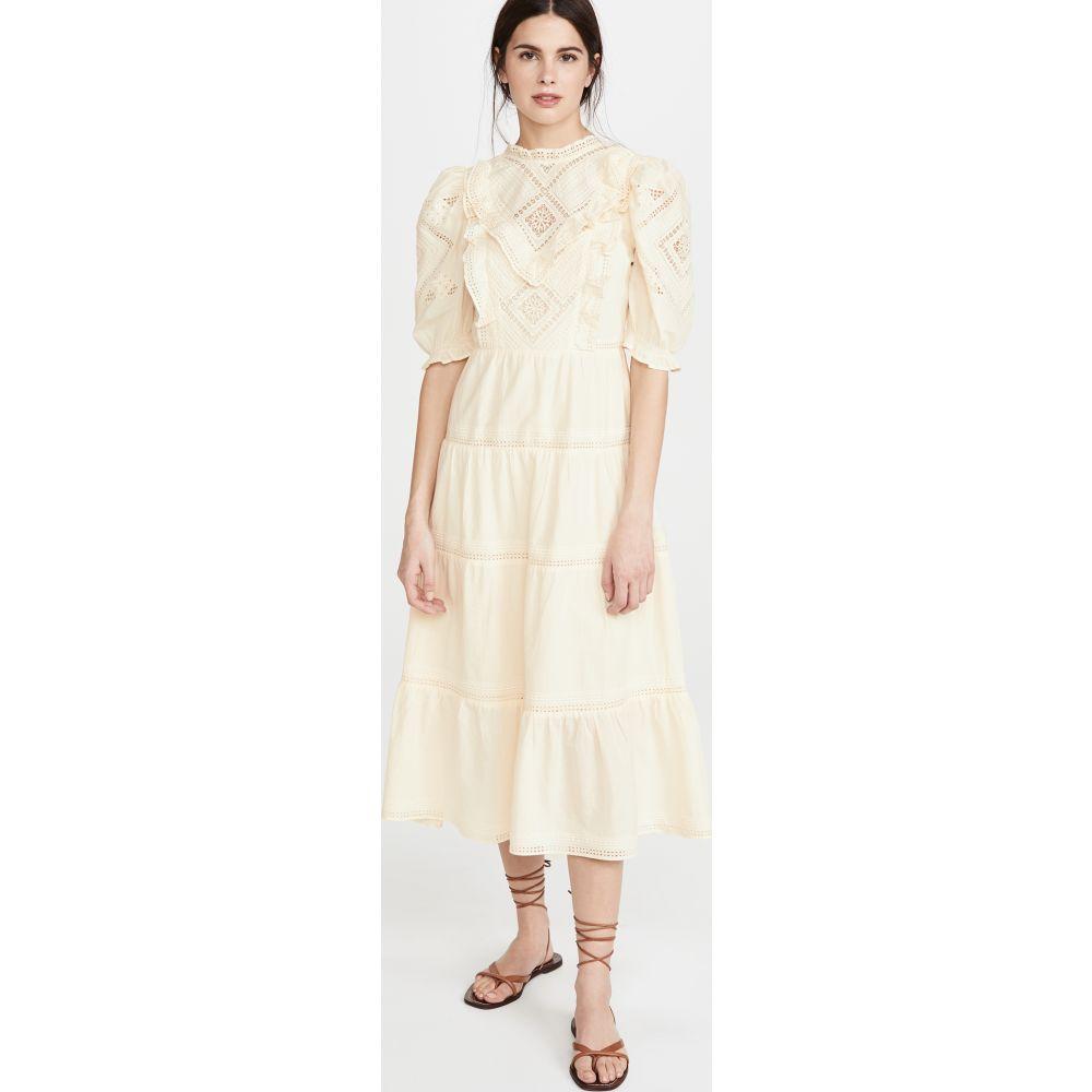 シー Sea レディース ワンピース マキシ丈 ワンピース・ドレス【Talitha Lantern Sleeve Maxi Dress】Cream
