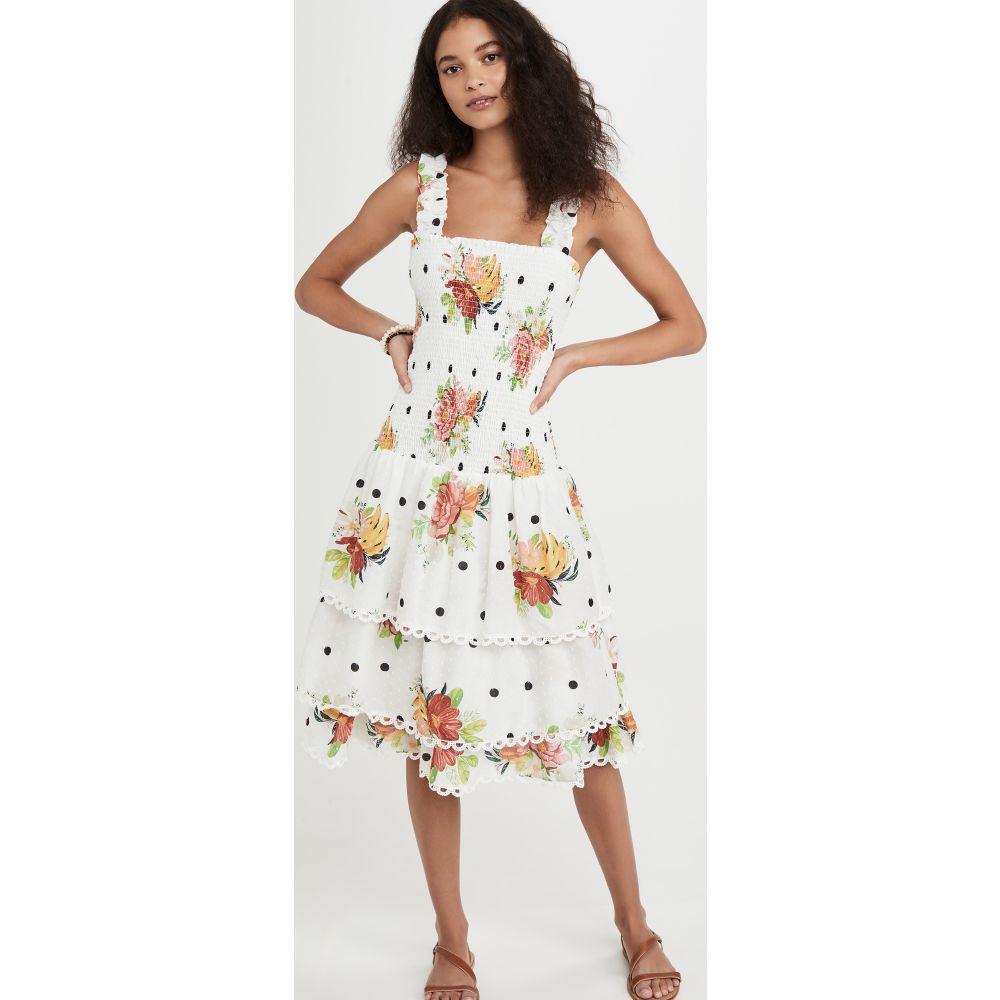 ファーム FARM Rio レディース ワンピース ミドル丈 ワンピース・ドレス【White Nanaju Midi Dress】White Nanaju