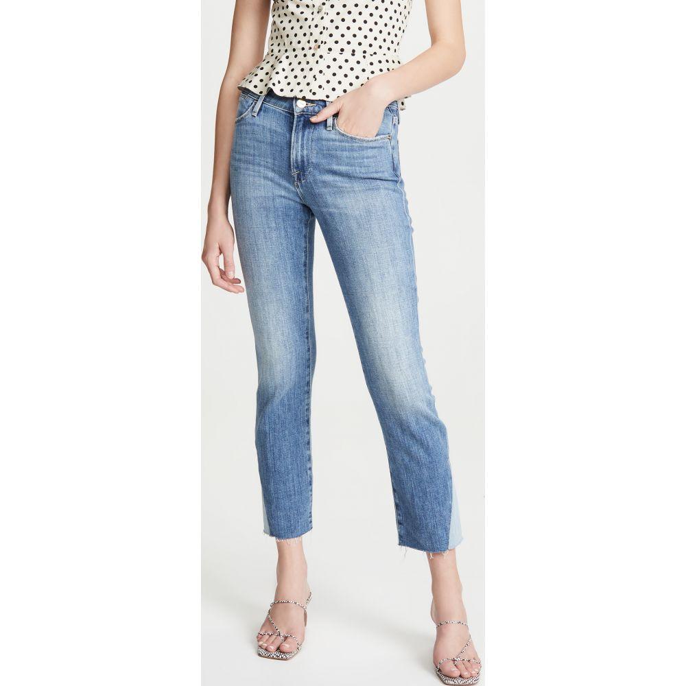フレーム FRAME レディース ジーンズ・デニム ボトムス・パンツ【Le High Straight Side Triangle Gusset Raw Edge Jeans】Mateo Duo