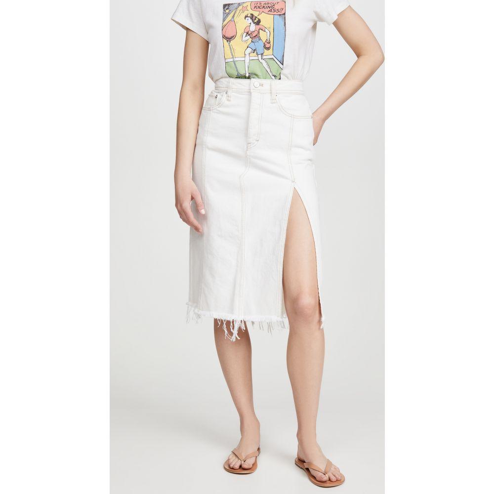 フリーピープル Free People レディース ひざ丈スカート デニム スカート【Mambo Denim Midi Skirt】White Wash