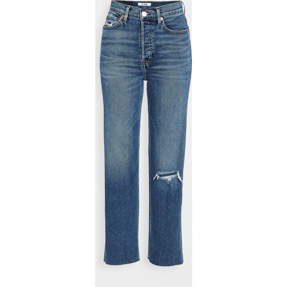 リダン RE/DONE レディース ジーンズ・デニム ボトムス・パンツ【70s Stove Pipe Jeans】Dark Worn