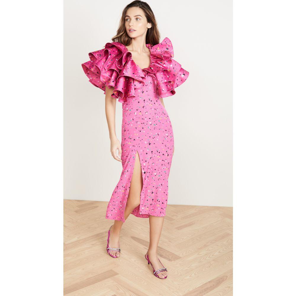 ロテート ROTATE レディース ワンピース ワンピース・ドレス【Carmen Dress】Paint Splash