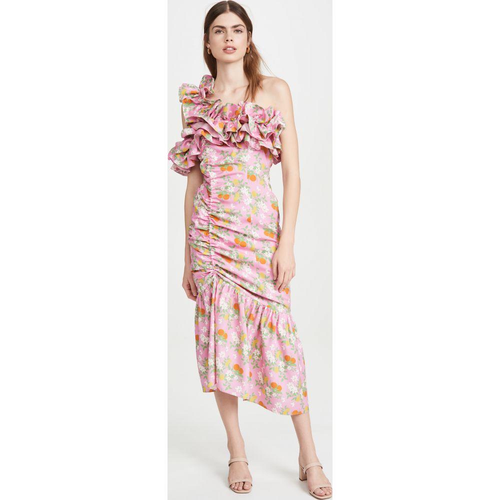 ビバ アビバ Viva Aviva レディース ワンピース ワンピース・ドレス【Catalina Double Drawstring Ruffle Dress】Pink Citrus Garden