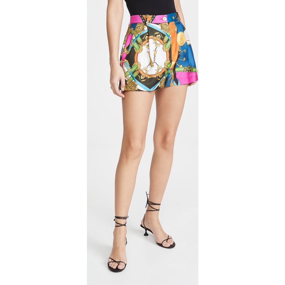 ヴェルサーチ Versace レディース ショートパンツ ボトムス・パンツ【Pantaloni Shorts】F.Do Bianco/Stampa
