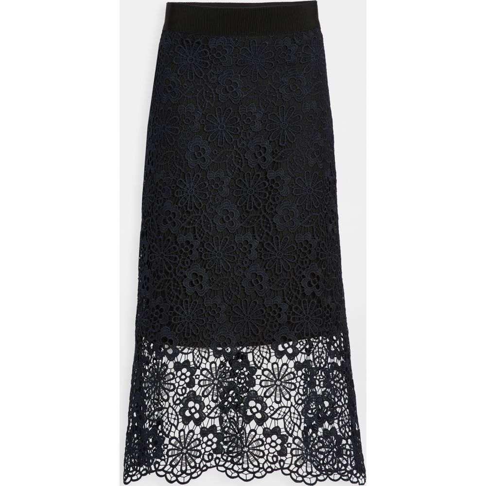 ヴィクトリア ベッカム Victoria Victoria Beckham レディース ひざ丈スカート スカート【Midi Skirt】Midnight Blue